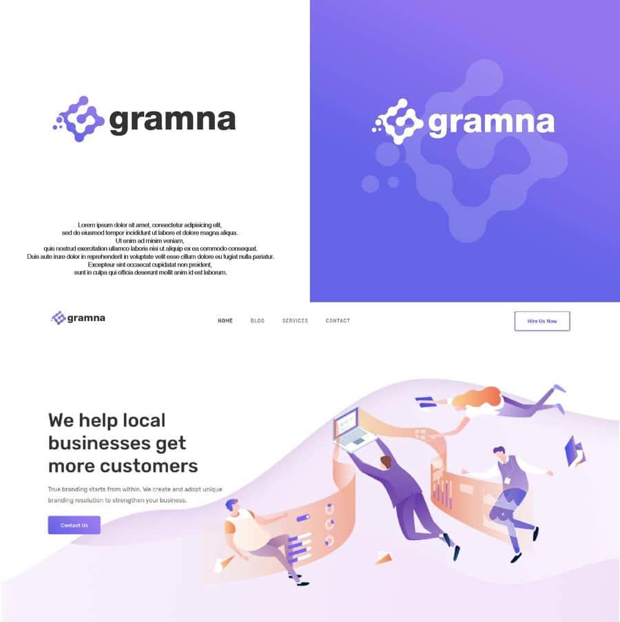 Gramna-logo-design-mockup